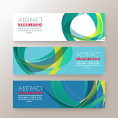 Set of modern design banners template with abstract Colorful circle shape pattern background. vector illustration