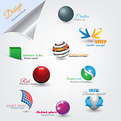 Set of modern design flat icons