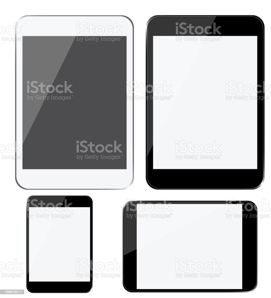 Set of modern digital devices royalty-free set of modern digital devices stock vector art & more images of communication