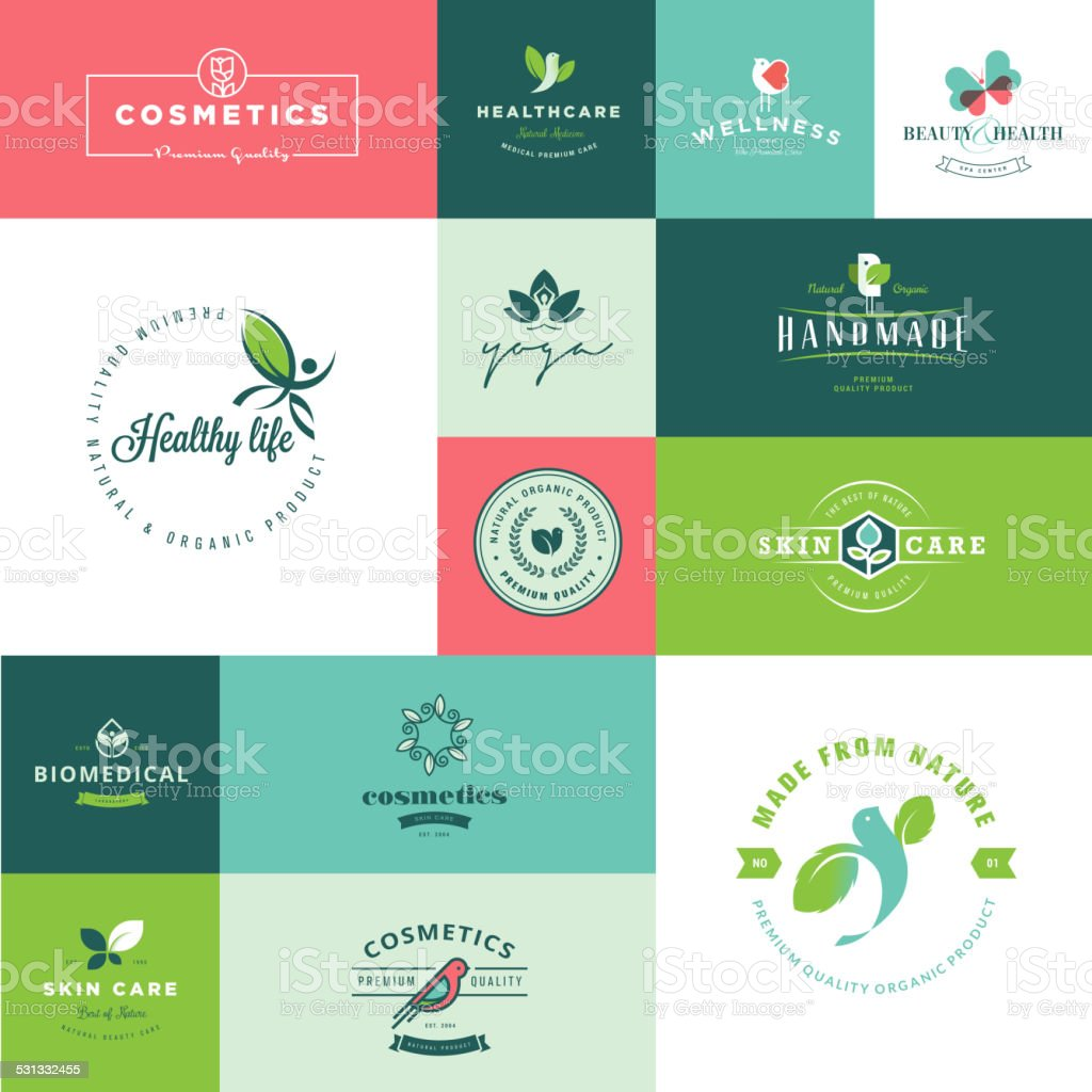 Set of modern flat design beauty and nature icons vector art illustration