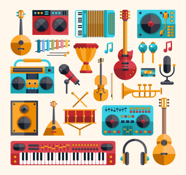 Modern Musical Instruments: Top 60 Musical Instrument Clip Art, Vector Graphics And