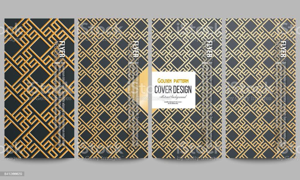 Ilustração de conjunto de viajantes modernos ouro islâmica padrão