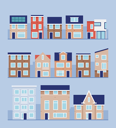 A set of modern houses