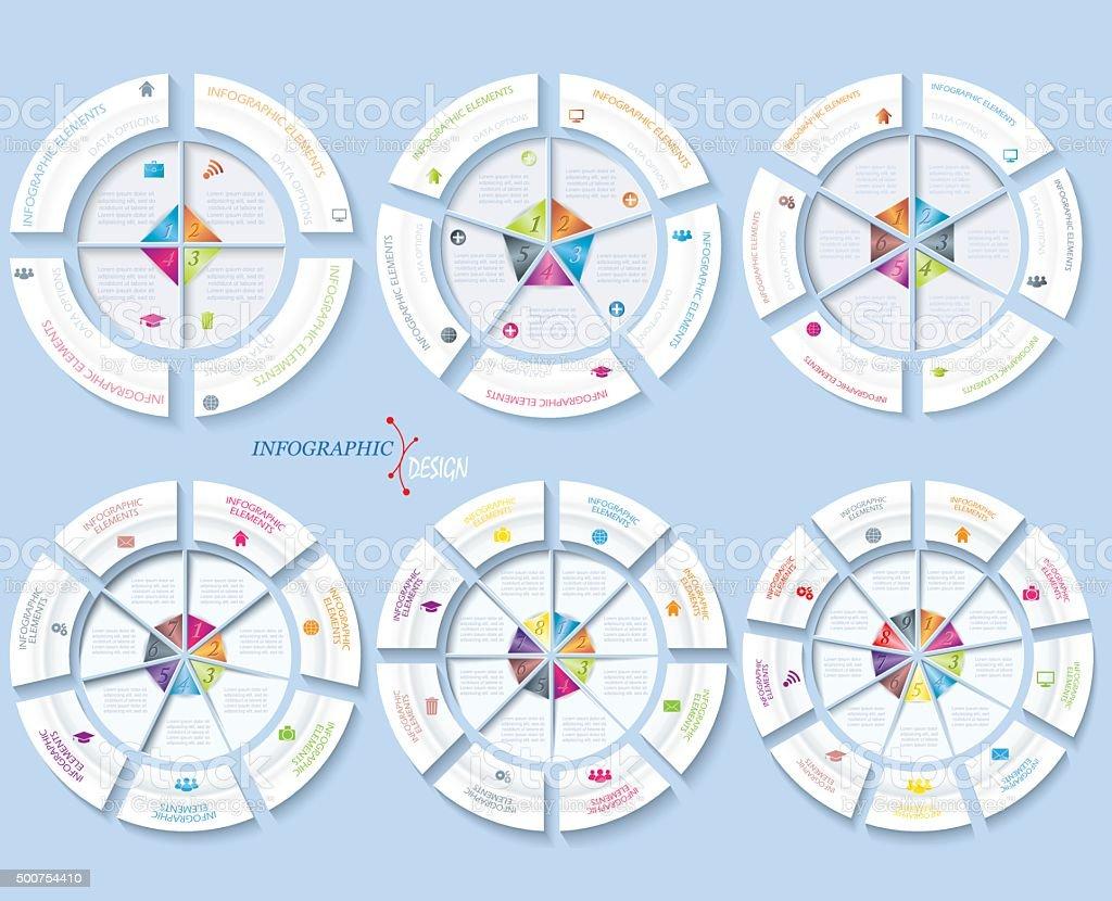 Set of modern infographic for business project or presentation vector art illustration