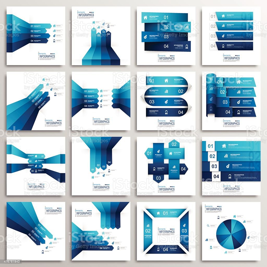 Set of Modern Infographics Elements vector art illustration