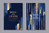 istock Set of modern luxury wedding invitation design or card templates for business or presentation or greeting. 1203722467