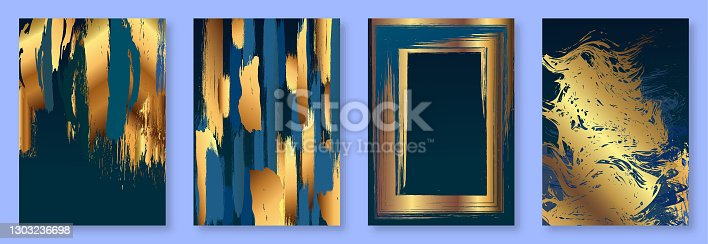 istock Set of modern luxury wedding invitation design or card templates for business or presentation or greeting. stock illustration 1303236698