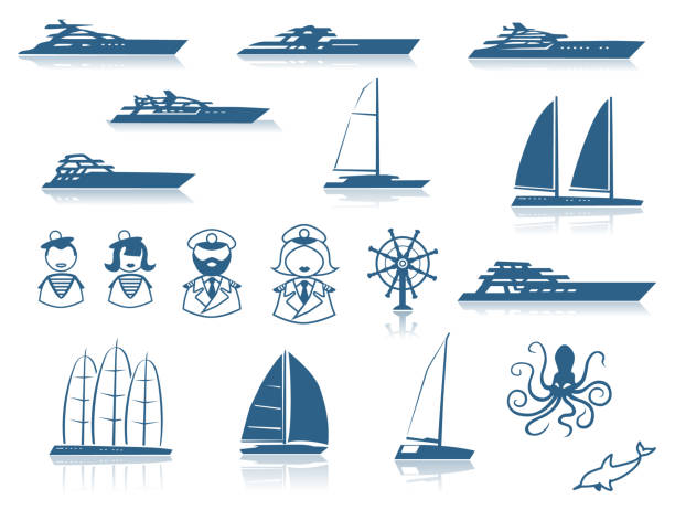Best Luxury Yacht Illustrations, Royalty-Free Vector