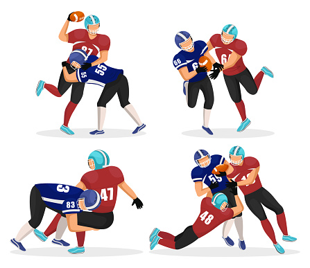 Set of Moments Where Men Play in American Football