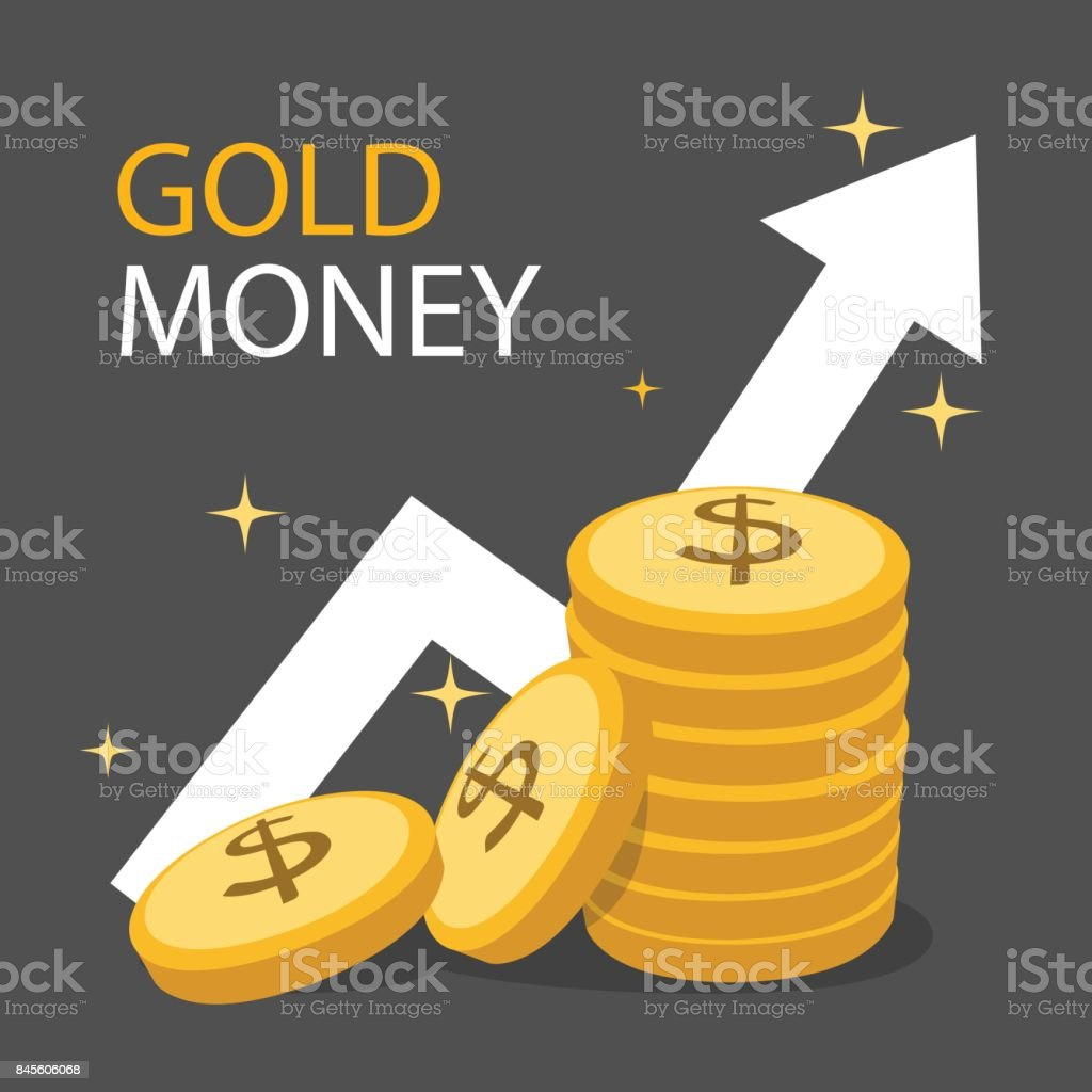 Set of money coins gold color and white arrow growth ups to the set of money coins gold color and white arrow growth ups to the top nvjuhfo Image collections