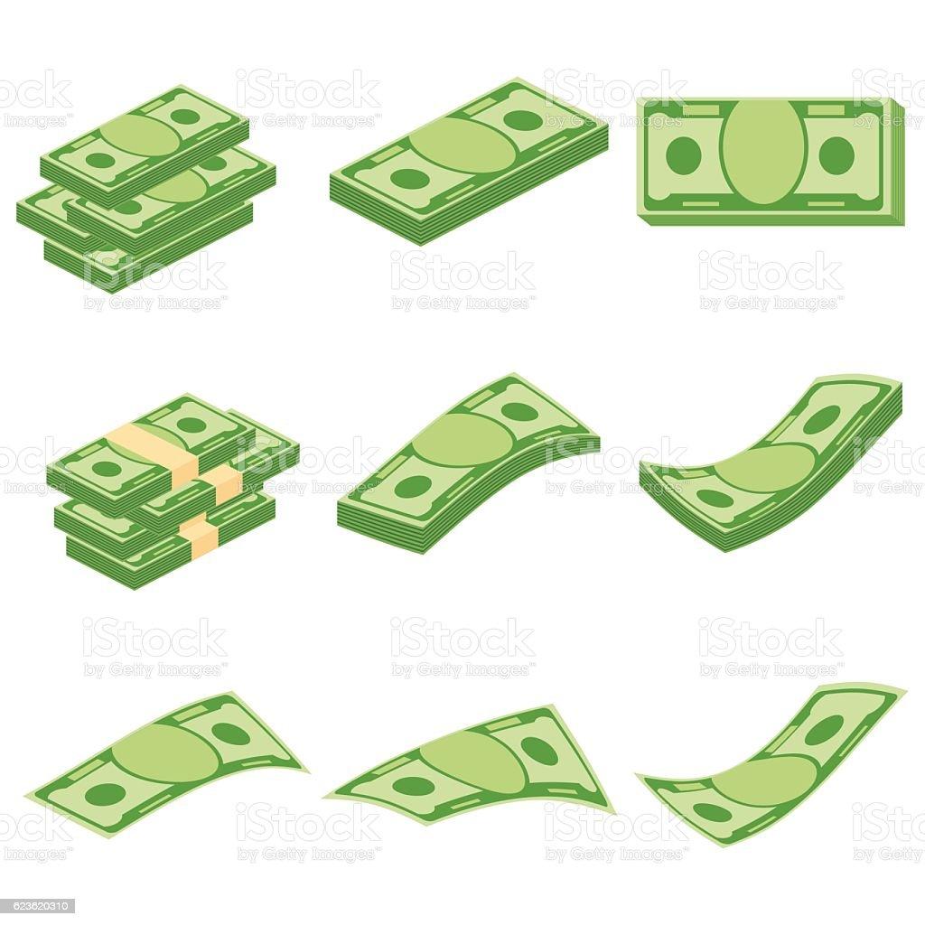 set of money - Illustration vectorielle