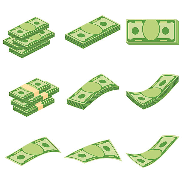 set of money - euros cash stock-grafiken, -clipart, -cartoons und -symbole
