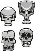 Set of monster skull mascots