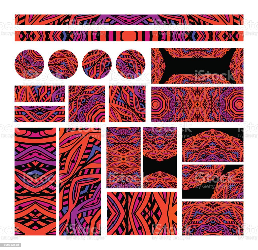 Set of mosaic design elements for decorating royalty-free set of mosaic design elements for decorating stock vector art & more images of abstract