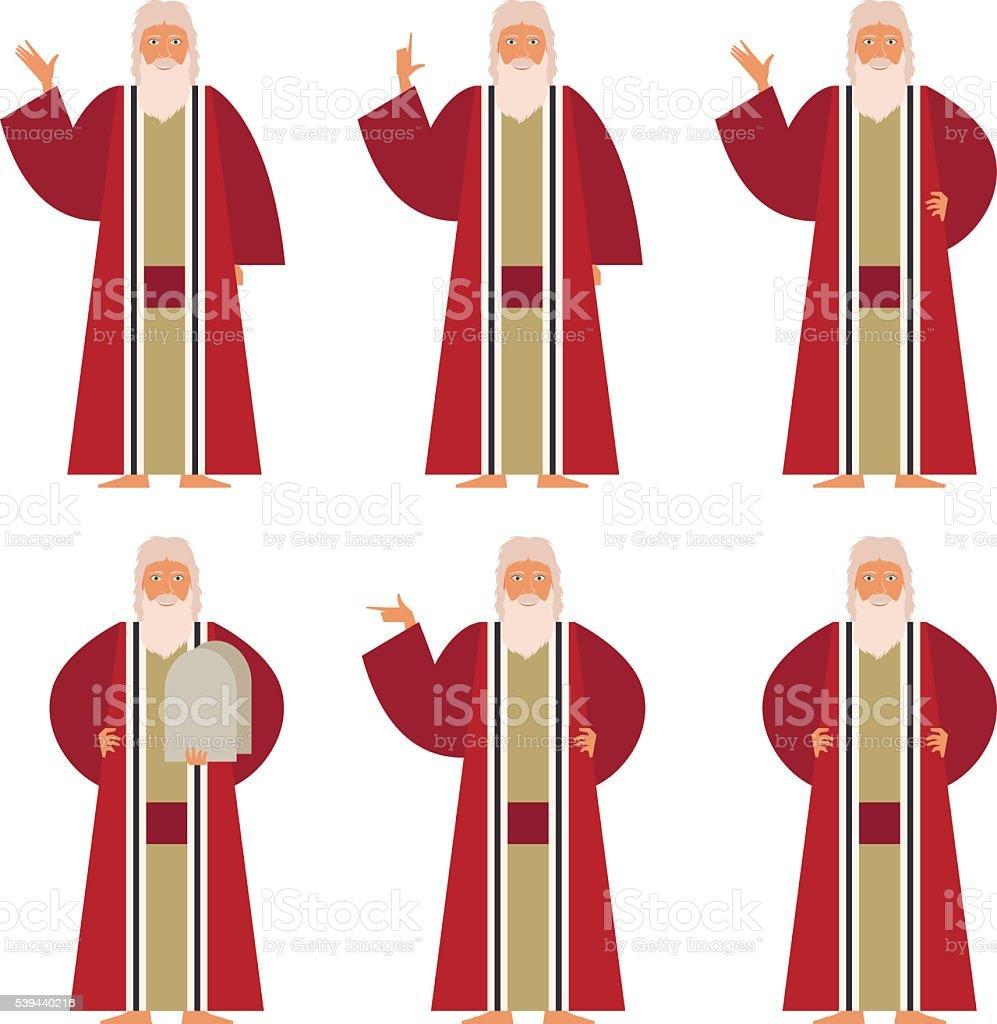 Set of Moses vector art illustration