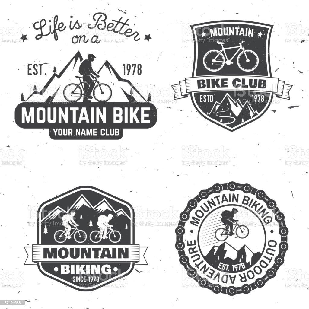 Set of Mountain biking clubs. Vector illustration vector art illustration
