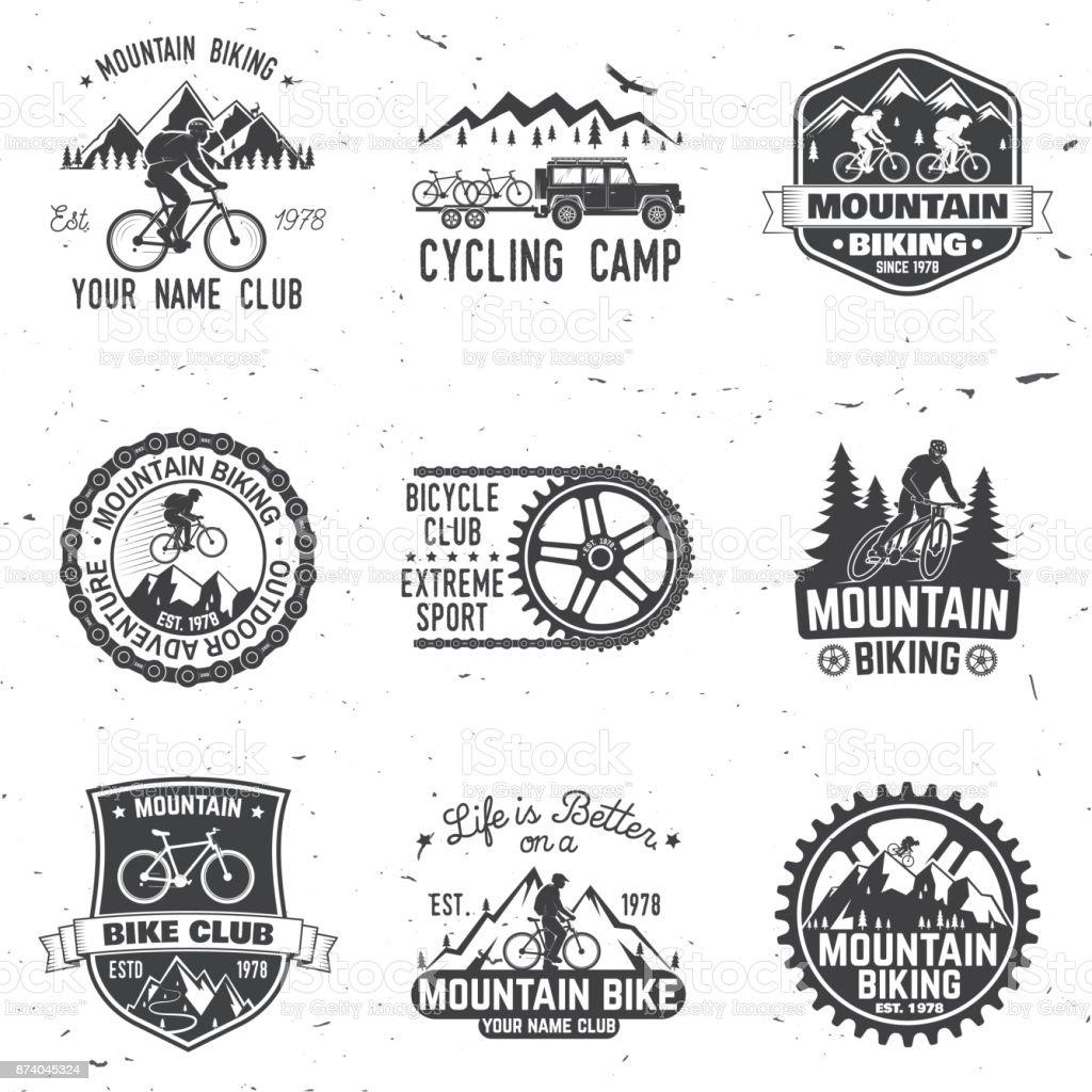 Set of Mountain bikings clubs. Vector illustration vector art illustration