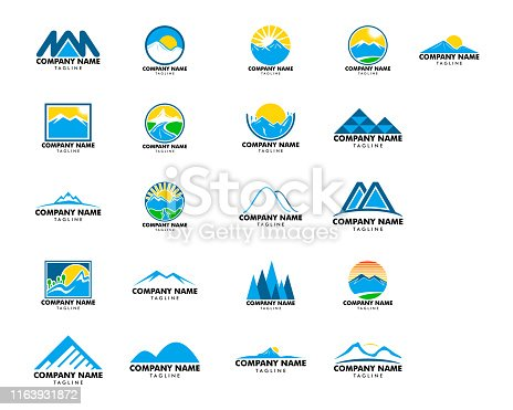 Set of Mountain  design vector template