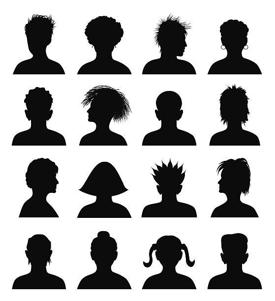 set of mugshots set of mugshots, vector illustration mug shot stock illustrations