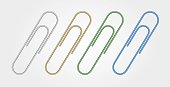 Set of Multi Colored Paper Clips