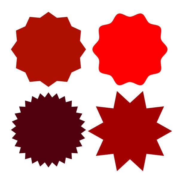 Set de badges multicolores et les étiquettes de différentes formes.  Illustration vectorielle - Illustration vectorielle