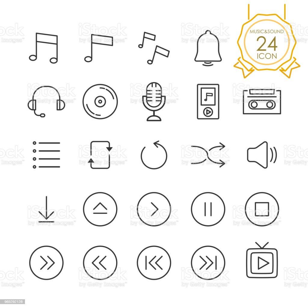 Set Of Music Audio Sound Sign And Symbols Icons On White Background