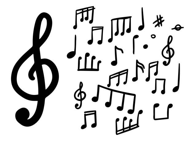 203 Clip Art Of A Music Notes To Draw Illustrations Royalty Free Vector Graphics Clip Art Istock