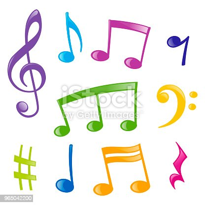 Set Of Musical Signs Stock Vector Art & More Images of Art