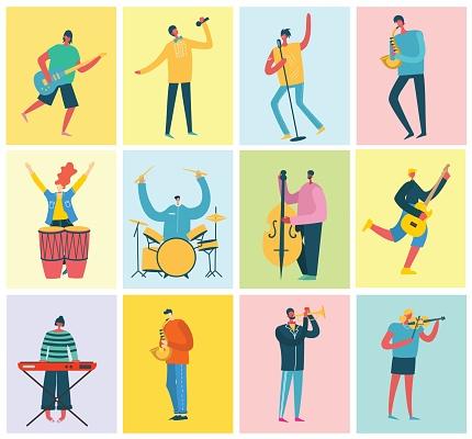 Set of musicians