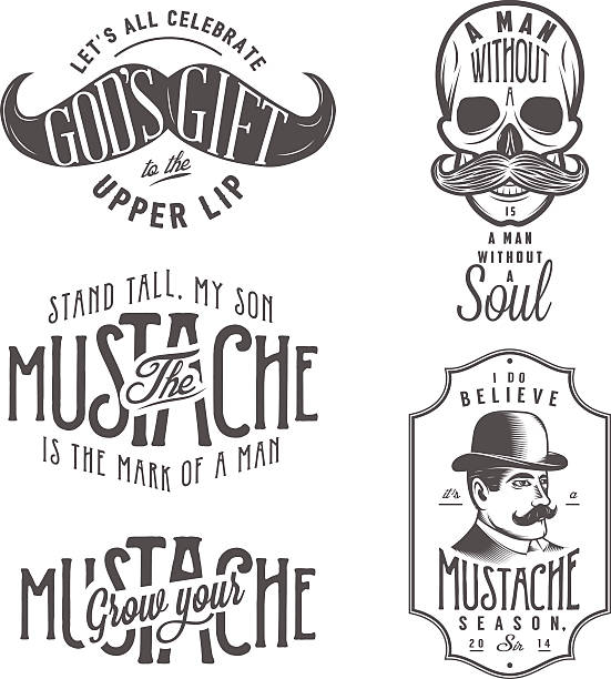 City Of Ember Quotes And Page Number: Movember Clip Art, Vector Images & Illustrations