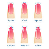 Set of nails shapes