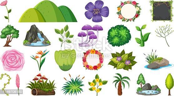 Set of nature element illustration