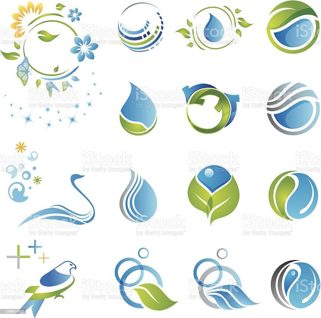 Set of nature icons royalty-free stock vector art