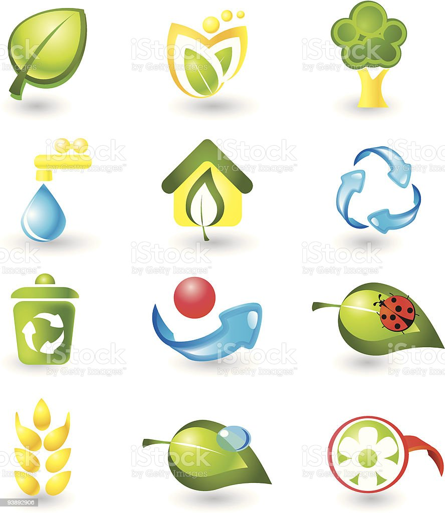 Set of nature icons royalty-free set of nature icons stock vector art & more images of color image