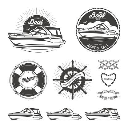 Set of nautical emblems