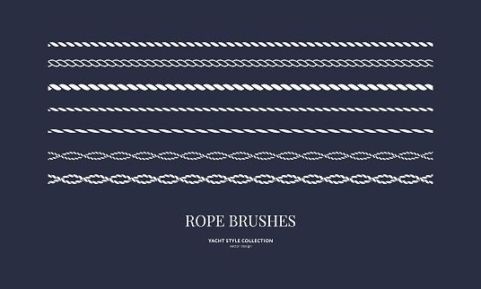 Set of nautical rope brushes