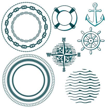 Set of naval elements