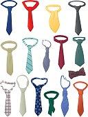 Set of neckties