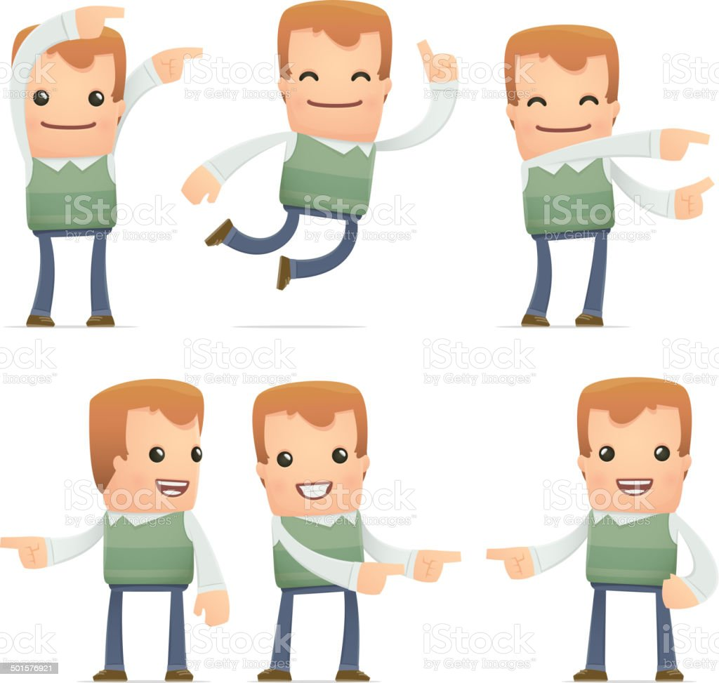 set of neighbor character in different poses royalty-free stock vector art