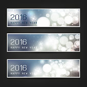 Set of New Year Headers - 2016