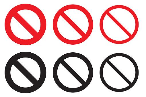 Set Of No Symbols