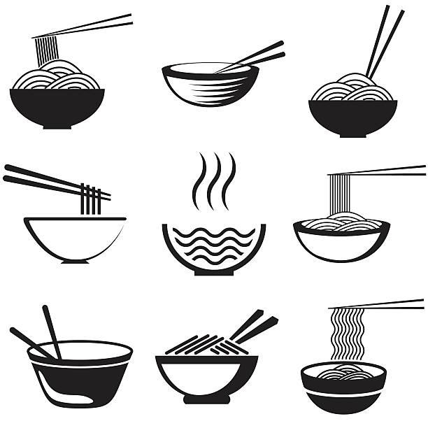 セットの麺 - ラーメン点のイラスト素材/クリップアート素材/マンガ素材/アイコン素材