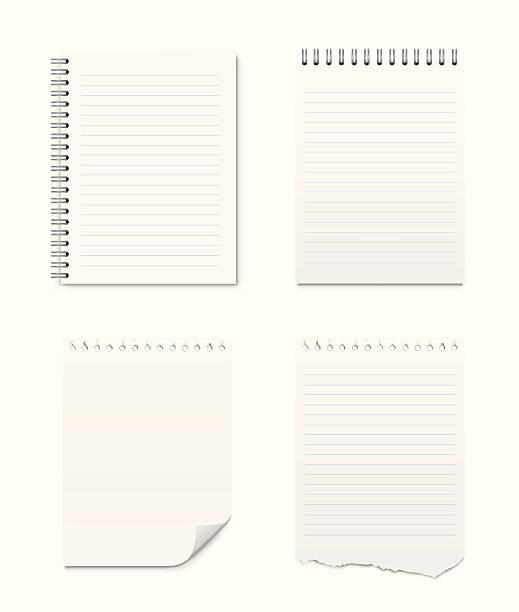 一連のメモ帳と空白ページ - メモ点のイラスト素材/クリップアート素材/マンガ素材/アイコン素材