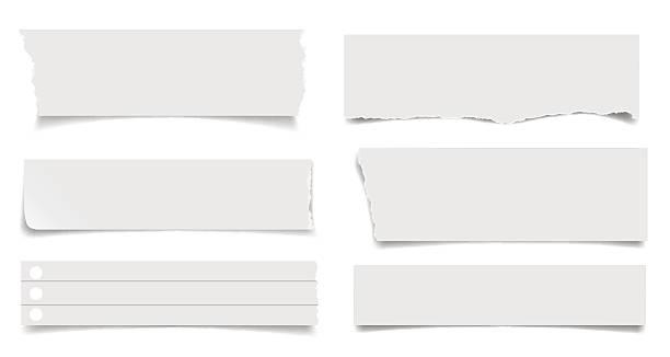 ein satz von briefpapier laken mit schatten - teilabschnitt stock-grafiken, -clipart, -cartoons und -symbole