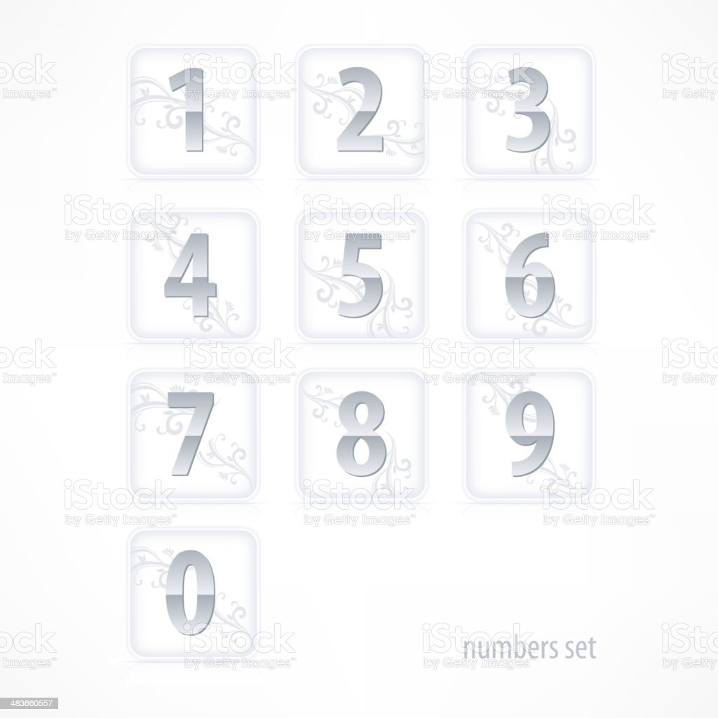 Set of numbers royalty-free stock vector art
