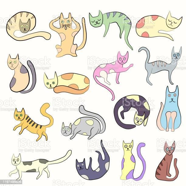 Set of odd funny colored primitive style cats vector id1197495826?b=1&k=6&m=1197495826&s=612x612&h=tzm1 kzxej4weodcbot0qblccya2aafhtcls5refscy=