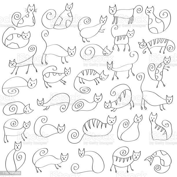 Set of odd funny primitive style cats vector id1197495855?b=1&k=6&m=1197495855&s=612x612&h=gnsmvmfxedqy92ohefn6vryo5wmcn4tkfeudjnpec8q=