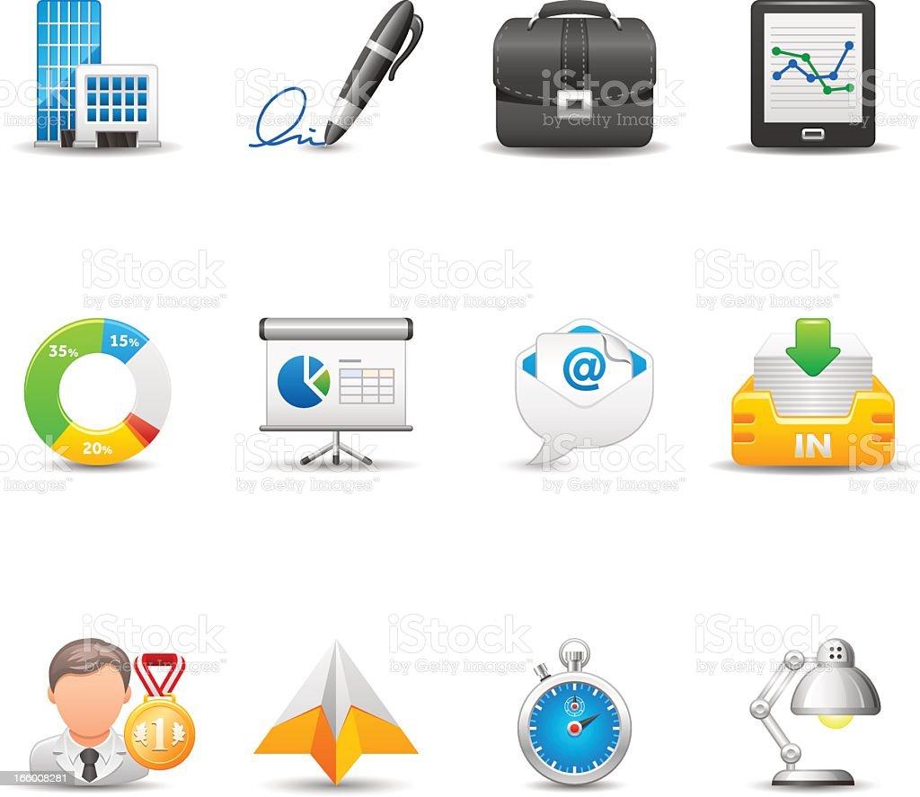 Escritório & negócios conjunto de ícones/elegante Series - ilustração de arte em vetor