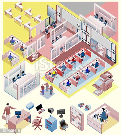 custom interior isometric vector