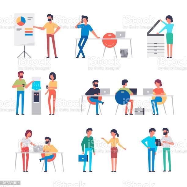 Set of office workers characters flat design corporate business full vector id947224814?b=1&k=6&m=947224814&s=612x612&h=xbvmgpmwzwauxomfj8xuh7tketyzywb49cym7caawnc=